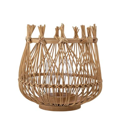 Esja Lantern, H40 x D40 cm, Beige/ Natural