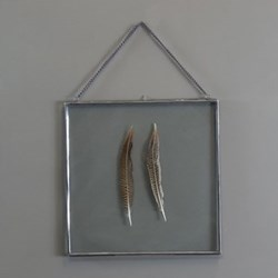Kiko Square frame, H36 x L36cm, antique metal