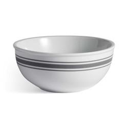 Kitchen Dine Soup bowl, stripe porcelain