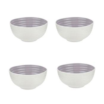 Colour Pop Set of 4 bowls, 14cm, mulbery