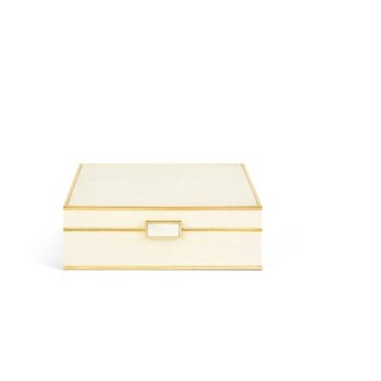 Luxe Shagreen Jewellery box, cream