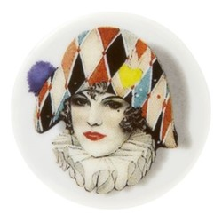 Love Who You Want - Miss Harlequin Dessert plate, 23cm, white