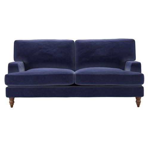 Isla 2 and a half seater sofa, H92 x W193 x D104cm, Prussian Blue