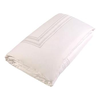 Deco King size duvet cover, L230 x W220cm, platinum