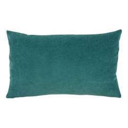 Elise Velvet Cushion cover, 40 x 65cm, green/grey
