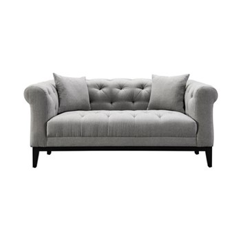 Fiorella Small sofa, W170 x H72.5 x D98cm, grey/black