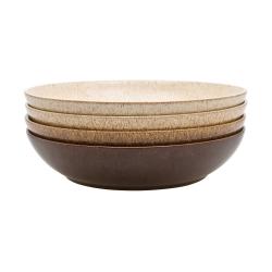 Studio Craft Set of 4 pasta bowls, 1.05 litre - 22 x 5cm, mixed