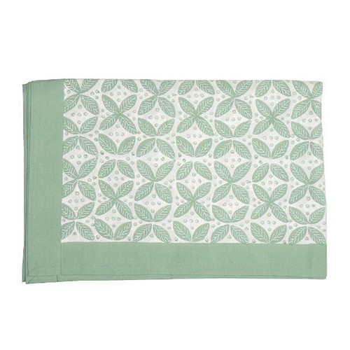Berry Tablecloth, 150 x 250cm, Green Cotton