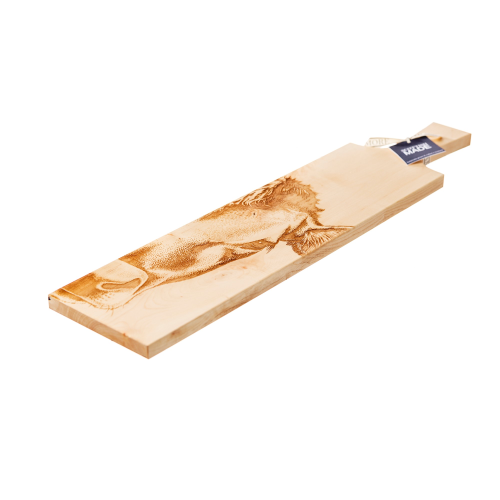 Jersey Cow Long sycamore paddle, L65 x W15x H2cm, Sycamore