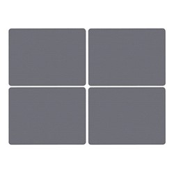 Kingsley Set of 4 large placemats, 40 x 30cm, grey