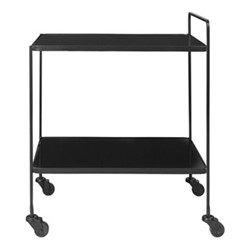 Anne Bar cart, H60 x W42 x L60cm, black