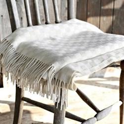 Snowdrop Wool and cotton mix throw, 220 x 155cm, snowdrop