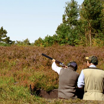 Clay pigeon shooting near London for two at Bisley shooting ground