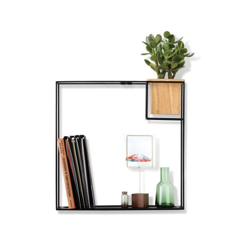 Cubist Wall display, large, Natural/Black