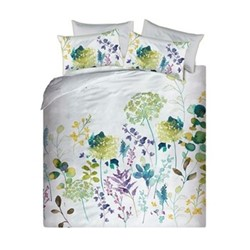 Botanical King size duvet cover set, L220 x W230cm