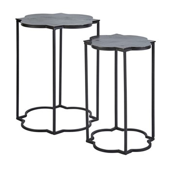 Gilmore Side table set, W40 x H51 x D40cm, iron/metal
