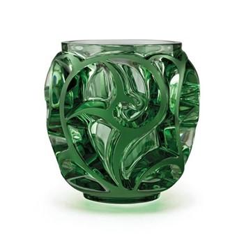 Tourbillons Vase, H12.6 x D12.2cm, green