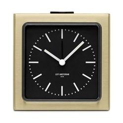 Block Alarm clock, H8.5 x L8.5 x D6cm, brass