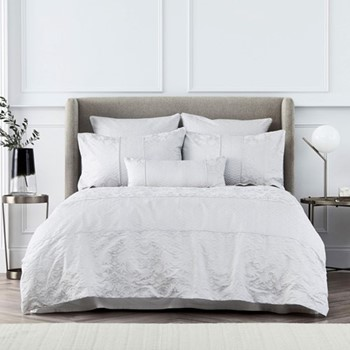 Stedwell King size duvet cover set, 230 x 220cm, cloud grey