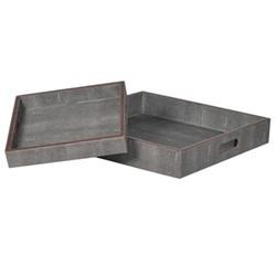 Pair of trays, H70 x W46 x D46cm, grey