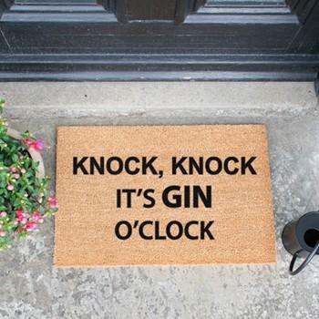 Gin O'Clock Doormat  , L60 x W40 x H1.5cm