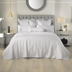 Christobel Double bedcover, 240 x 260cm, Dove Polyester