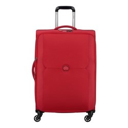 Mercure 4 wheel expandable trolley case, 68cm, red
