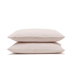 Relaxed Bedding Pair of housewife pillowcases, 50 x 75cm, Rose
