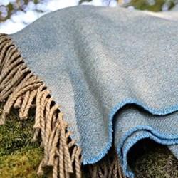 Skylark Wool and cotton mix throw, 220 x 155cm, skylark