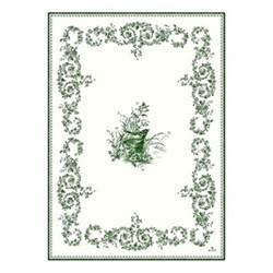 Les Depareillées - Oiseau Set of 4 towels, 50 x 70cm, green