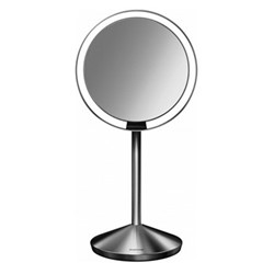 Mini sensor mirror, H29.8 x W14.5cm, brushed stainless steel