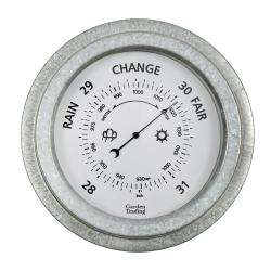 St Ives Barometer, 22cm, Galvanised Steel