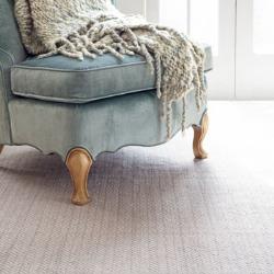 Herringbone Woven cotton rug, W183 x L274cm, dove grey