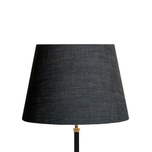 Straight Empire Lampshade, 40cm, charcoal chambray