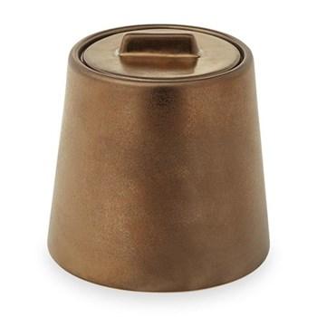 Patina Beauty box, D11 x H10cm, vintage bronze