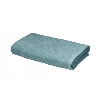 Diamond Sculpture Bath Sheet, 90 x 140cm, teal