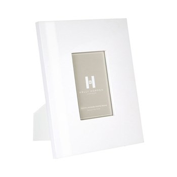 "Lacquer Photograph frame, 5 x 7"", white"