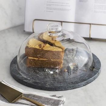 Brompton Cake dome, H16 x W29 x D29cm, slate