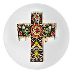 Love Who You Want - Black Cross Dessert plate, 23cm, white