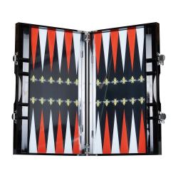 Bee Backgammon set, L35.3 x W21.4 x D4.7cm, black and red
