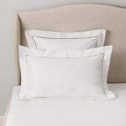 Santorini - 200 Thread Count Cotton Oxford pillowcase, 50 x 75cm, White