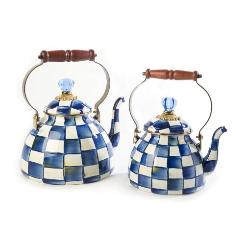 Royal Check Tea kettle, 2.3L, Blue & White