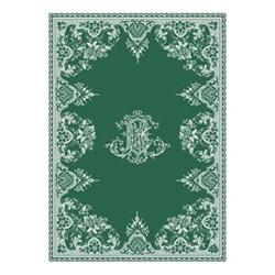 Les Depareillées - Monogramme Towel, 50 x 70cm, green