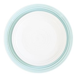 Lines Dinner plate, D28.4cm, white/blue