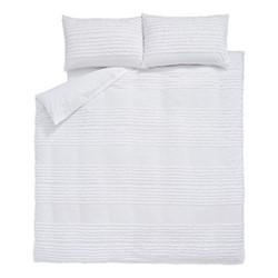 Malmo Super king size duvet set, 220 x 260cm, white