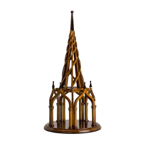 Nirvana Spire Architectural model, H55 x D26.5cm, Honey Distressed Birch