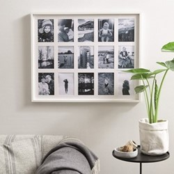 15 aperture fine wood memories photo frame H67 x W82cm