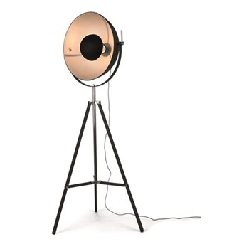 Chicago Floor lamp, H164 x W67 x D67cm, black and silver