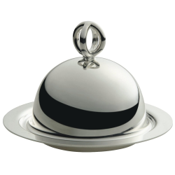 Latitude Butter dish and cover, silver plate