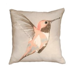 Rose Hummer Cushion, L45 x W45cm, multi